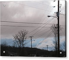 Acrylic Print featuring the photograph January Blue Sky by Lindie Racz