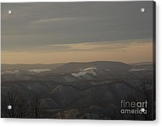 January Evening Acrylic Print by Randy Bodkins
