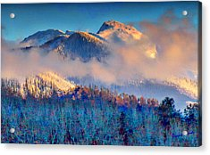 January Evening Truchas Peak Acrylic Print