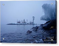 January Foggy Morning Acrylic Print