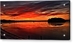 January Sunrise Onset Pier Acrylic Print