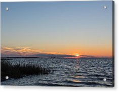 January Sunset Acrylic Print by Gregg Southard