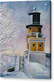 Acrylic Print featuring the painting Januarys Light by Brenda Thour
