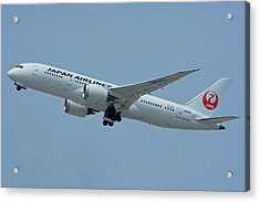 Japan Airlines Boeing 787-8 Ja835j Los Angeles International Airport May 3 2016 Acrylic Print by Brian Lockett