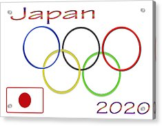 Japan Olympics 2020 Logo 3 Of 3 Acrylic Print