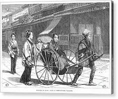 Japan: Rickshaw, 1874 Acrylic Print by Granger