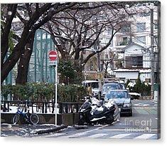 Japan Yoyogi Snow Acrylic Print by Lee Tinglu