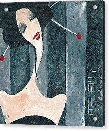 Acrylic Print featuring the painting Japanese Beauty by Maya Manolova