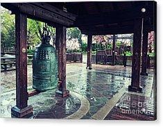 Japanese Bell In Kariya Park Acrylic Print by Charline Xia