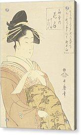 Japanese Courtesan Acrylic Print by Kitagawa Utamaro