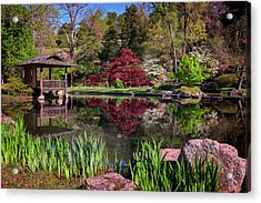 Acrylic Print featuring the photograph Japanese Garden At Maymont by Rick Berk