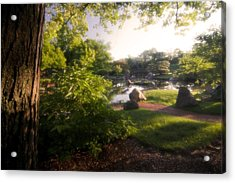 Japanese Garden In The Morning Acrylic Print