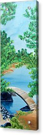 Japanese Garden Acrylic Print by Kathern Welsh