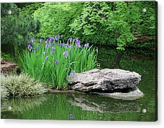 Japanese Gardens - Spring 02 Acrylic Print by Pamela Critchlow