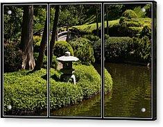 Japanese Garden Triptych Acrylic Print