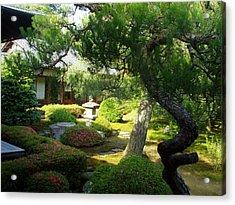 Japanese Garden V Acrylic Print by Wendy Uvino