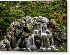 Japanese Garden Waterfalls Acrylic Print
