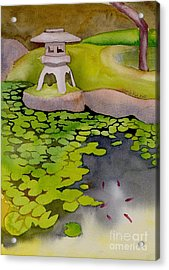 Acrylic Print featuring the painting Japanese Garden by Yolanda Koh