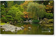 Japanese Gardens Acrylic Print by Mike Reid