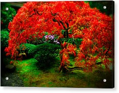 Japanese Gardens Portland Acrylic Print