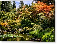 Acrylic Print featuring the photograph Japanese Gardens Seattle by Claudia Abbott