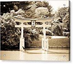 Japanese Hill And Pond Garden New York Acrylic Print