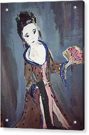 Acrylic Print featuring the painting Japanese Lady by Judith Desrosiers