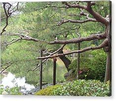 Japanese Landscape Viii Acrylic Print by Wendy Uvino