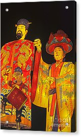 Japanese Lanterns King And His Dancers Acrylic Print