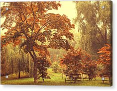 Japanese Maples In Luzanki Park Acrylic Print