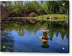 Acrylic Print featuring the photograph Japanese Reflections At Maymont by Rick Berk