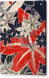 Japanese Style Maple Interior Art Painting. Acrylic Print