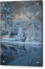 Japanese Tea Garden Infrared Right Acrylic Print by Joshua House