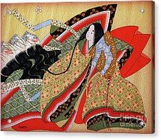 Japanese Textile Art Acrylic Print