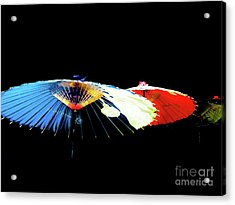 Japanese Umbrellas Assorted Colors Acrylic Print