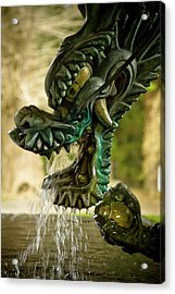 Japanese Water Dragon Acrylic Print by Sebastian Musial