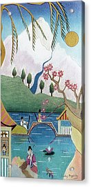 Japanese Willow Acrylic Print by Sally Appleby