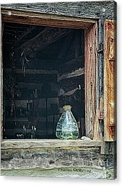 Acrylic Print featuring the photograph Jar In Window by Charles McKelroy