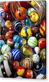 Jar Of Marbles Acrylic Print by Garry Gay