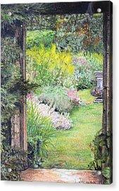 Jardin Acrylic Print by Muriel Dolemieux