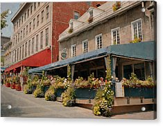Jardin Nelson - Old Montreal Acrylic Print by Maria Angelica Maira