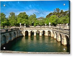 Jardins De La Fontaine Nimes Acrylic Print by Scott Carruthers