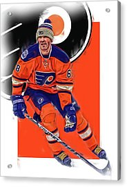 Jaromir Jagr Philadelphia Flyers Oil Art Series 2 Acrylic Print