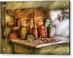 Jars - The Process Of Canning Acrylic Print by Mike Savad