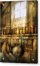 Jars - Winter Preserves  Acrylic Print by Mike Savad