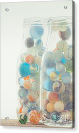 Jars Full Of Marbles Acrylic Print
