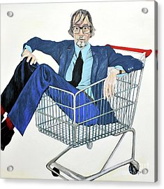 Jarvis Cocker 'off Yer Trolley' Acrylic Print