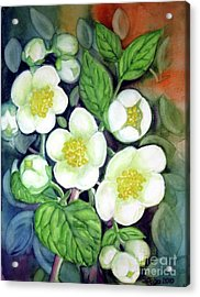 Acrylic Print featuring the painting Jasmine Fantasy by Inese Poga