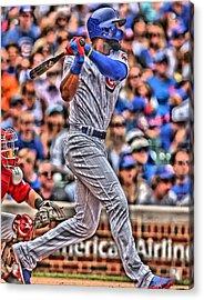 Jason Heyward Chicago Cubs Acrylic Print by Joe Hamilton