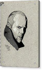 Jason Statham Acrylic Print